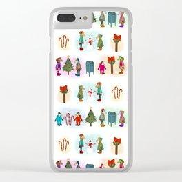 Cozy Kid Unicorns Pattern Clear iPhone Case