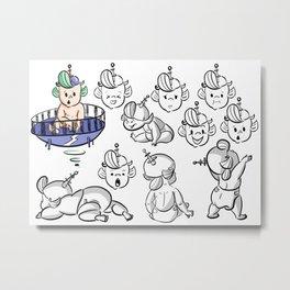 Fischer Character Design Metal Print
