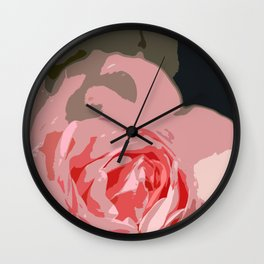 Rosy Rose Wall Clock