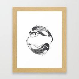Hipster Koi Framed Art Print