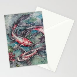 Harmony (Watercolor Painting) Stationery Cards