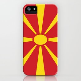 Flag of Macedonia - Macedonian,skopje,Bitola,Kumanovo,Prilep,Balkan,Alexander the great,Karagoz,red iPhone Case