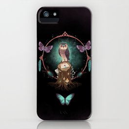 Enchanted Woodland Secret Keeper And Dream Catcher iPhone Case