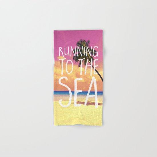 Running to the Sea Hand & Bath Towel