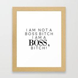Office Decor, Boss Bitch, God Is A Woman, Gift For Boss Framed Art Print