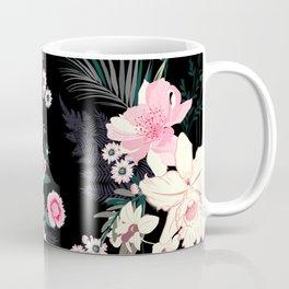 Beautiful Vintage Black Floral Pattern Coffee Mug