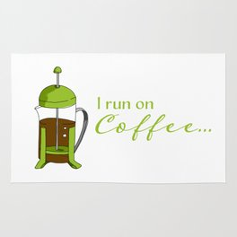 French Press | I run on coffee Rug