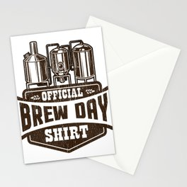 Official Brew Day Craft Beer Home Brewing Stationery Cards