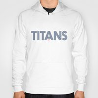 teen titans Hoodies featuring Vintage Titans by mrTidwell