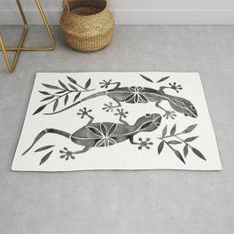 Geckos – Black Palette Rug