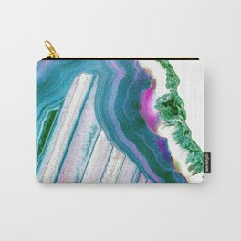 Agate Geode Carry-All Pouch