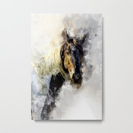 Glitter Horse Metal Print