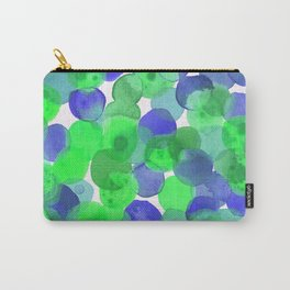 Watercolour Circles- Green and Blue Palette Carry-All Pouch