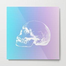 NeonSkull Metal Print