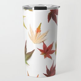 AUTUMN LEAVES PATTERN #1 #decor #art #society6 Travel Mug