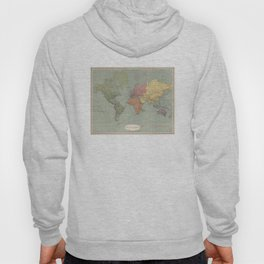 Vintage Map of The World (1889) Hoody