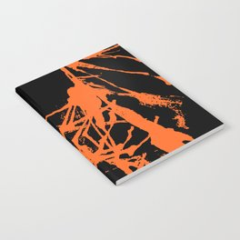 Orange Ink black Notebook