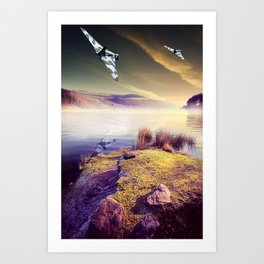 Vulcan Thunder in the Valley Art Print