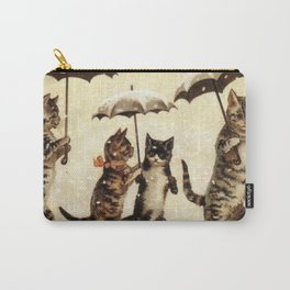 Cats in the snow Carry-All Pouch
