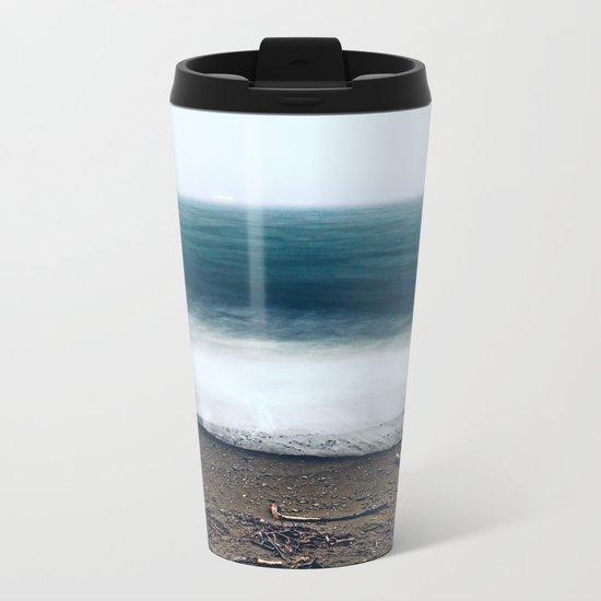 In the Ocean Deep Metal Travel Mug
