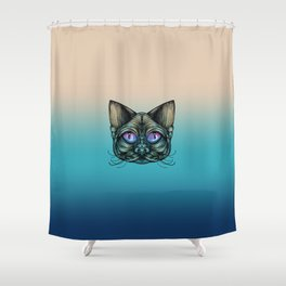 Zombie Cat Shower Curtain
