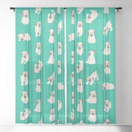 koda pattern (teal) Sheer Curtain