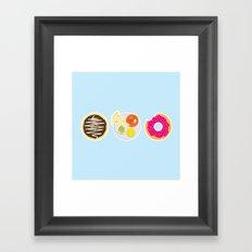 3 Food Staples Framed Art Print