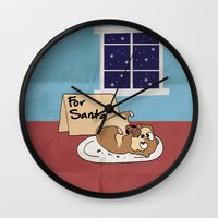 hamster Wall Clocks featuring Hamster Cookies by ne11amae