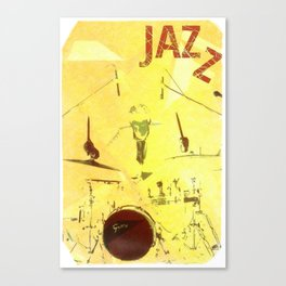 Jazz Poster Canvas Print