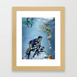 Ritte Unsuspecting Swimmers Framed Art Print