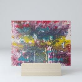 Abstract Red Fluid Art Mini Art Print