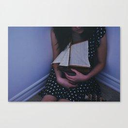 I left my heart at the sea Canvas Print