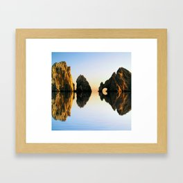 A Rocking Reflection Framed Art Print