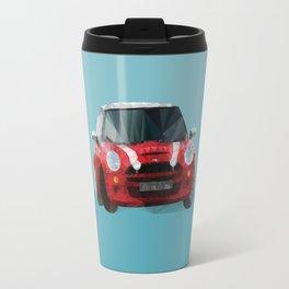 Red Mini Cooper S Polygon Art Travel Mug