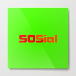 SOS social Metal Print