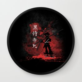 Black Samurai Red Death Wall Clock
