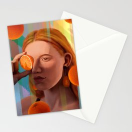 Orange Looking Glass Stationery Cards