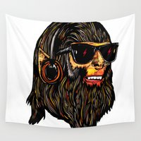 teen wolf Wall Tapestries featuring Teen Wolf by Vasco Vicente