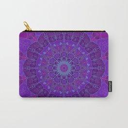 Mandala art drawing design purple fuchsia periwinkle Carry-All Pouch