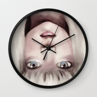 chandelier Wall Clocks featuring Chandelier by Carolina Valtuille