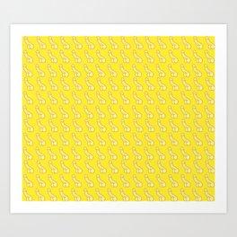 Banana Dicks! Yellow Penis, Male Anatomy Art Print