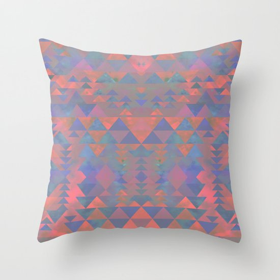 Delta Tribe - Pink Throw Pillow