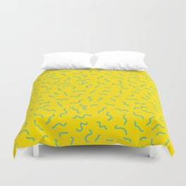 Postmodern Germs No. 1 in Canary Yellow Duvet Cover