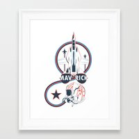 top gun Framed Art Prints featuring Top Gun by Anvish_Design