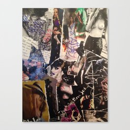 Mixed Media Fashion Collage  Canvas Print