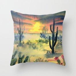 Desert Twilight Throw Pillow