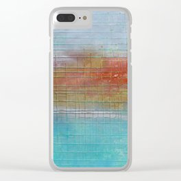 Enchanted Waters mixed media abstract seascape Clear iPhone Case