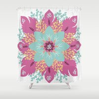 om Shower Curtains featuring Om by zakumy