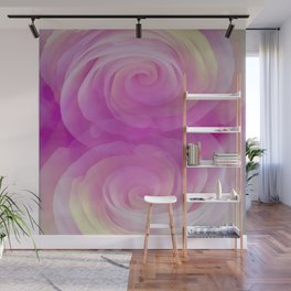 Gentle Reflections in Pastel Pinks Wall Mural