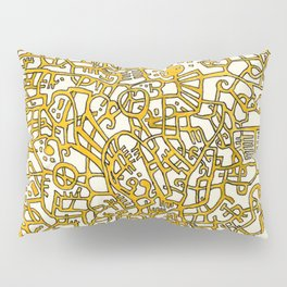 Begin/End Series in Yellow Pillow Sham